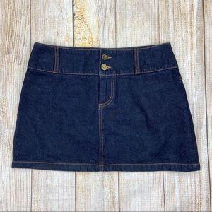 LONDON JEAN Blue 100% Cotton Denim Mini Skirt
